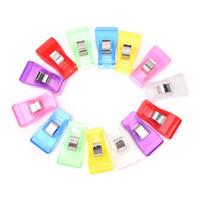 ingrosso clip di trapunta-Clip di plastica per cucire Clip per sacchetti multicolore Craft Quilt Binding Clothes Pegs Knitting Tool Vendita calda 0 15sy C R