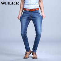 Wholesale 4xl Tall - Sulee Brand 2017 Mens Plus Size Jeans Stretch Blue Denim Slim Long Trouser Jean Pants Big And Tall Trendy Mens Clothing