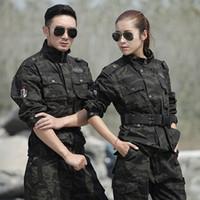 traje de hombre uniforme del ejército al por mayor-Ropa de caza Hombres Mujeres Uniforme Militar Combate táctico Invierno Algodón Cálido traje Ghillie Black Hawk Uniformes del Ejército de los EE. UU.