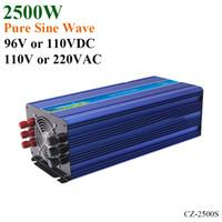 pv energieinverter großhandel-2500W 96V / 110VDC 100/110 / 120VAC oder 220/230 / 240VAC reiner Sinus-Wellen-PV-Inverter weg von der Gitter-Solarwindkraft-Inverter PV-Inverter