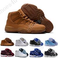 черные мужские сапоги оптовых-Дешевые новый 11S белый черный темный Конкорды 11 Спортивная обувь 11 в Конкорд баскетбол обувь мужчины Легкая атлетика кроссовки сапоги бесплатно shippin