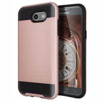 Wholesale alcatel white phone online – custom Armor Hybrid Brushed Case For Alcatel Folio LG Q7 Samsung Glaxy J4 J6 J8 A6 A6 Plus J7 Duo PC TPU Phone Cover