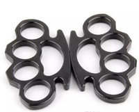 Wholesale thick brass knuckle dusters - NEW Metal Black and silver THICK STEEL BRASS KNUCKLE DUSTER