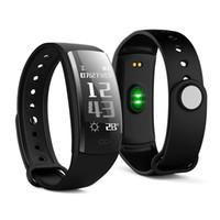 отслеживание gps браслетов оптовых-Zeepin QS90 Smart Bracelet Heart Rate Monitor Smart Band Blood Pressure GPS Track IP67 Waterproof Wristband For IOS Android