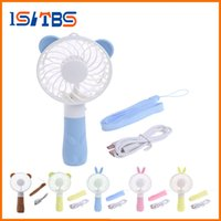Wholesale usb operated fan - 2018 Hot Sale Mini Fans Portable Hand Fan Battery Operated USB Power Handheld Mini Fan Cooler with Strap