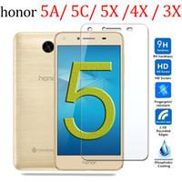 huawei 3c ekran koruyucusu onuruna toptan satış-Honor 5a Onur 5c Ekran Koruyucu Için koruyucu Cam Üzerinde 5x 4x 3x 3c Huawei a5 c5 x5 Temperli Cam 5 için bir c x 9 H Film