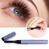 Wholesale mini eyelash curlers - New Mini Pen Style Electric Heated Eyelash Eye Lashes Curler Long Lasting Makeup Kit CCA8672 200pcs