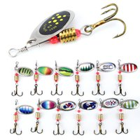 Wholesale bait wholesalers - 10pcs cm g Spinner Hook Fishing Hooks Metal Baits Lures Artificial Bait Pesca Fishing Tackle