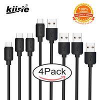 1 ft kablo toptan satış-USB Tip C Kablo Kiirie 4 paket 1FT 2x3.3FT 6.6FT TipA TipC Veri Şarj Kablosu LG Nexus Google Huawei Macbook Tip-C USB Aygıtları