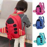 Wholesale sky airplane resale online - Kindergarten Lovely Airplane Baby Toddler Bag Kids Gifts D Backpack Schoolbag