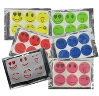 Wholesale Smiley Faces Stickers - Nature Anti Mosquito Repellent Insect Repellent Bug Patches Smiley Smile Face Patches Baby Adult Mosquito Repellent Stickers