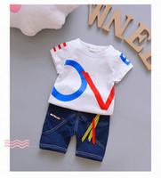 Wholesale autumn children s clothing for sale - Summer Children Clothes Kids Leisure Clothes Suit Boys Short Sleeve Top Short Pants Set s l