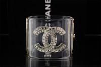 crystal skulls china NZ - Top Quality Brand Design Woman diamond Letter bracelet CUFF clear Crystal pearl Punk Retro skull bracelet With Box