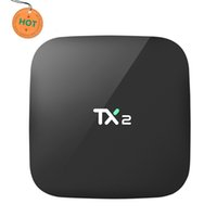 caja de tv tx2 al por mayor-TX2 RK3229 Android 6.0 TV Box Rockchip TVbox 2GB 16GB Internet TV Box BT2.1 WIFI DLNA 4K H.265 H.264 HD2.0