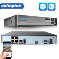 enregistreurs vidéo achat en gros de-4CH ONVIF 48V 1080P Enregistreur Vidéo Réseau Réel Autonome POE NVR Pour POE Caméras IP 2MP Service P2P Cloud