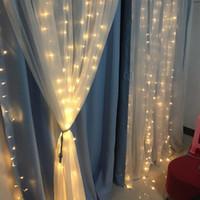luces de hadas led alambre delgado al por mayor-Home Garden Lawn Festival decoración luz LED cadena impermeable Fairy cortina luces para boda Navidad año nuevo cumpleaños