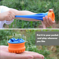 Wholesale toy shooting for sale - Group buy Novelty toy outdoor big powerful skin capsule round pocket slingshot cup shooting game