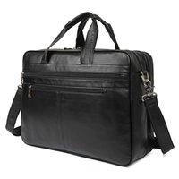 Classic Guarantee Cow Leather Men s Handbag Unique Design Briefcases 17 Inches  Laptop Bag Busniess Bag eca582ab50f68