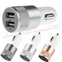 Wholesale ipad car charger 3.1a for sale - Group buy Metal Alloy Dual USB Port Car Charger A A Adapter for iphone for ipad samsung s4 s6 s7 s8 note gps mp3 pc
