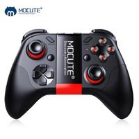 mini joystick pc großhandel-MOCUTE 054 Wireless Gamepad Bluetooth Game Controller Joystick Für Android / iSO Telefone Mini Gamepad Für Tablet PC VR box Gläser