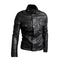 Wholesale leather jacket sexy - Wholesale- 2017 NEW Slim Top Designed Sexy PU Leather Short Jacket Coat Black M