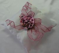braut blumenkorb großhandel-Camo Ring Kissen 18 * 18 cm Rosa CAMO Blumen Hochzeit Liefert Hohe Qualität