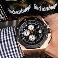 ingrosso orologi sportivi da 42 millimetri-2019 orologio da polso cronografo da polso di lusso in acciaio inossidabile 42 millimetri movimento al quarzo VK uomini sportivi orologi da uomo