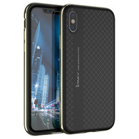 Wholesale pc case texture online - iPaky Case For iPhone X Bumblebee Back Cover Rugged Armor Dotted Grids Texture PC TPU In Ultra Thin Hybrid Cases In Stock