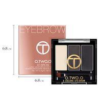 polvo de la frente de las mujeres al por mayor-3 en 1 O.TWO.O Waterproof EyeShadow Eyebrow Powder Make Up Palette Mujeres Belleza Cosmética Eye Brow Makeup Kit Set