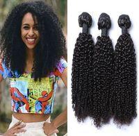 afro kinky kıvırcık insan saçı örgüleri toptan satış-9A Brezilyalı Kinky Kıvırcık Saç Demetleri Vizon Brezilya Afro Kinky Kıvırcık İnsan Saç Uzantıları Brezilyalı Kıvırcık Bakire Saç B ...