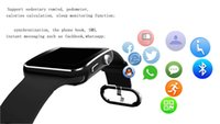 Wholesale Wristwatch Gps - Bluetooth Smart Watch X6 Smartwatch sport watch For iPhone Android Phone With Camera FM Support Whatsapp SIM Card wristwatch T30