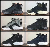best service 0021a 9d85e 2017 New Arrival Air Huarache 6 X Acronym City MID Leather Running Shoes  For Men High Quality Huaraches Mens Huraches Sports Sneakers 40-45