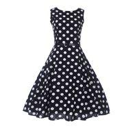Wholesale vestidos de fiesta online - Women Dress Retro Vintage s s Rockabilly Floral Swing Summer Dresses Big Size Elegant Tunic Vestidos De Fiesta