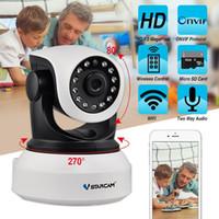 lentes de aumento de luz led al por mayor-Vstarcam C7824wip Ip cámara de seguridad para el hogar Onvif 2.0 Hd 720p cámara inalámbrica bebé / mascota monitor Cctv Ip Ir visión nocturna Wifi 64 Tf tarjeta Whitee