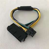 8pin adaptör kablosu toptan satış-ATX 24Pin Kadın Anakart için 8Pin Erkek DELL Optiplex 3020 7020 9020 T1700 Sunucu Adaptörü Güç Kablosu Kablosu 30 cm 18AWG