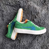 Wholesale One X S - Green one star X Tyler Golf Le Fleur Unisex Low Top High Top Adult Men's Canvas Shoes Laced Up Casual Shoes woman fashion Gym Sneaker s