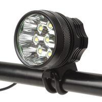 lithium-ionen-scheinwerfer großhandel-8 x XM-L T6 LED 4800Lm 3 Modi Vorder Fahrrad Licht Scheinwerfer + 8.4V 8000mAh Lithium-Ionen-Akku + Ladegerät