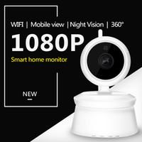 Wholesale New Ptz Ip Camera - 2018 New Model X1 1080P wireless Wifi IP Camera 360degree PTZ Home Security Surveillance Camera P2P IR Night Vision Baby Monitor ann
