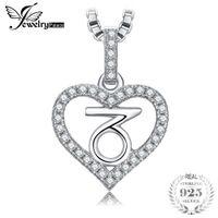 steinbock anhänger großhandel-JewelryPalace Sternzeichen Sternbild Steinbock Herz Liebe Zirkonia Anhänger 925 Sterling Silber keine Kette