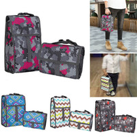 Wholesale organizer totes for women resale online - Lunch Bag Organizer With Zipper Canvas Foldable Cooler Insulation Picnic Bags Tote Carry Case For Travel Kids Women Thermal Bag HH7