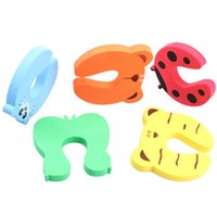 Wholesale finger door guard online - 4pcs set Baby Safety Colorful Baby Finger Protector Baby Helper Child Safety Door Stopper Finger Pinch Guard Lock Random Color