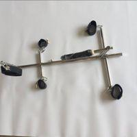 ingrosso griglie di acciaio inox-Sex Machine Bondage BDSM Toys For Women Restrizioni in acciaio inox Bondage con manette Grilli Polsini con colletto Giocattoli del sesso