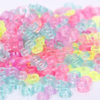 lastik bant bilezikler klipsler toptan satış-240 adet Çocuk Mix Renk S-Klipler Kauçuk Bantları Bilezik Yapımı DIY Aracı Bilezikler # 61332