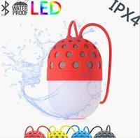 mini luz de luciérnaga al por mayor-venta caliente mini altavoces Bluetooth luciérnaga LED de colores impermeable llamada HD portátil de manos libres al aire libre super largo caja de resonancia de espera