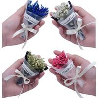 fotoğraflar buket toptan satış-Mini Gypsophila Kurutulmuş Çiçek Buketi Kristal Çim Fotoğraf Sahne Olay Kapı Hediye Mini Çiçek Buketi Fotoğraf Prop 4 Renkler
