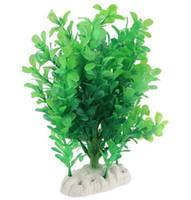 ingrosso pesci ornamentali-23 centimetri di plastica piante simulate Flora Aquarium Fish Tank Ornamentali di produzione di pesce Accessori Ornamenti Decorazione