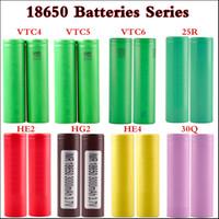 Wholesale 35a battery online - US battery VTC4 mAh VTC5 mAh VTC6 mAh INR R mah Q HG2 mAh He2 HE4 mAh A Rechargable battery