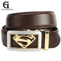 ingrosso modellazione del cuoio-Hello guoguo Cinture per gli uomini Modellazione di supereroi Designer Cintura automatica Cinture di lusso in pelle Business maschile Cummerbunds Kemer