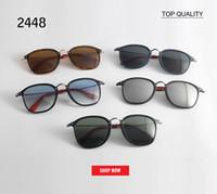 ingrosso occhiali da mercurio-Top moda occhiali da sole donne multicolore mercurio specchio occhiali uomo maschio rivestimento femminile occhiali da sole 2448 piazza oculos de sol feminino gafas