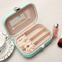 Wholesale lipstick makeup case box for sale - Group buy Jewelry Box Soft PU Leather Jewelry Organizer Display Storage Case for Rings Earrings Bracelets Watches Necklace Lipsticks Makeup Case